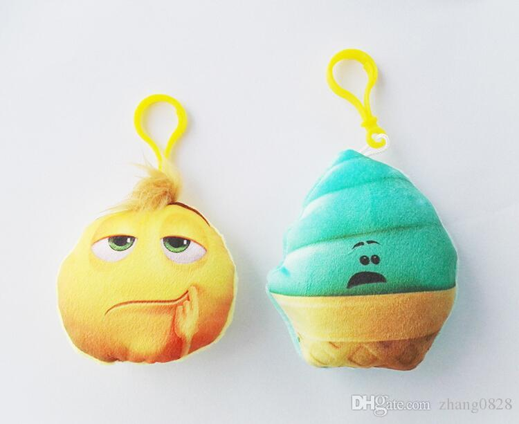 7 style 7 * 2.5 cm Mignon Belle Emoji Sourire porte-clés Expression visage porte-clés porte-clés accrocher poupée jouet cadeau livraison gratuite