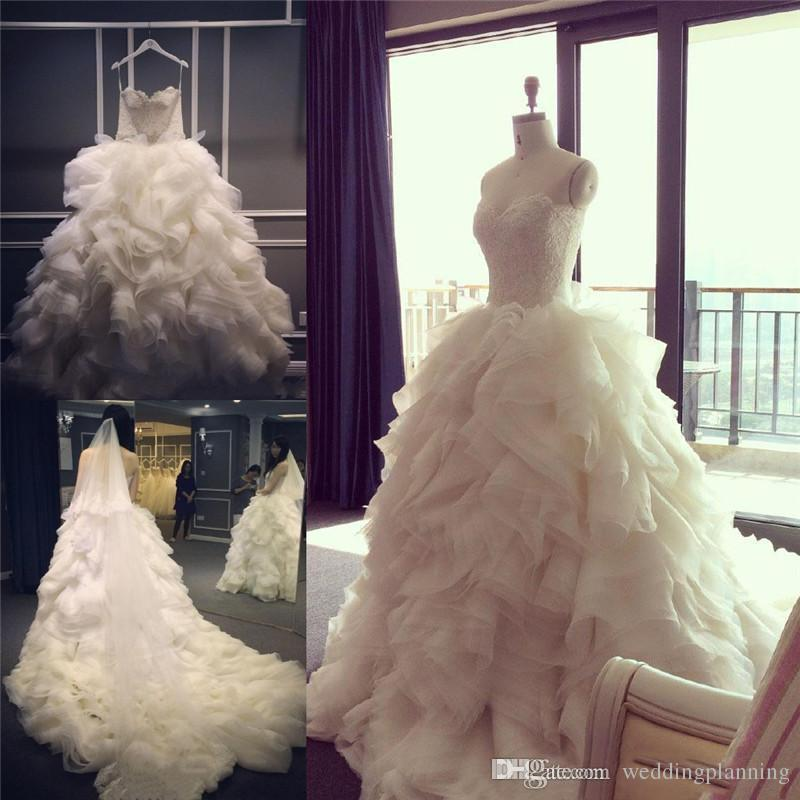 2017 New Real Pictures Straps Wedding Dresses Ruffles Long Formal Occasion Importi Thick xiu Wedding Gowns Good Quality Fabric Party Dress