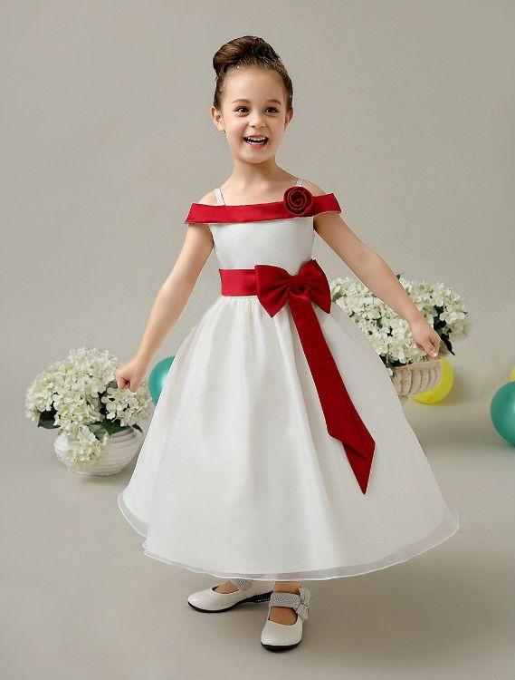 2017 A Line Flower Girl Dress, Free Pattern Frock Design Girls ...