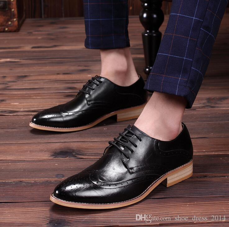 Hot Sale 100% Genuine Leather Shoes Men, Lace-Up Business Men Shoes, Men Dress Shoes, Fashion Men Oxford Flats