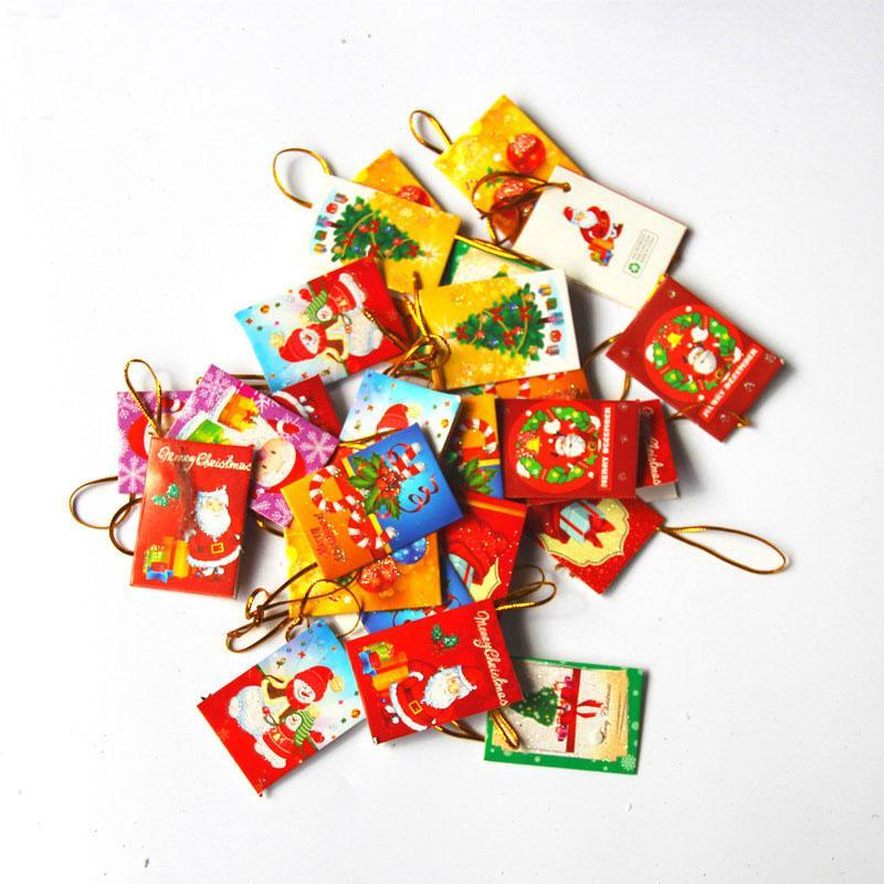 Santa Claus New Year Wish Card Greeting Card Christmas Decorations ...