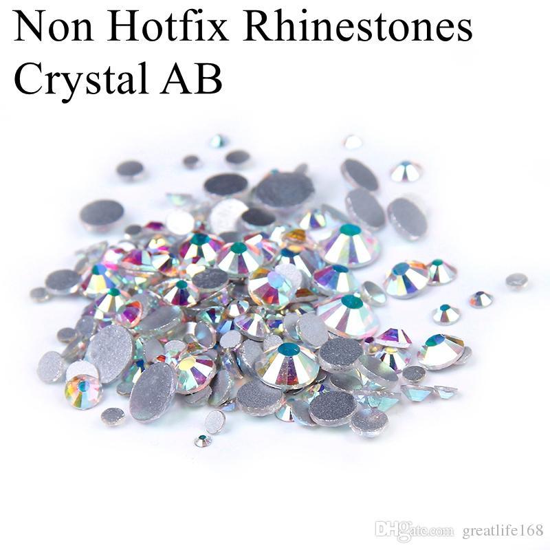 SS12-SS50 Non Hotfix Crystal Rhinestones Glitter White Crystal AB ... daf7642c65bb
