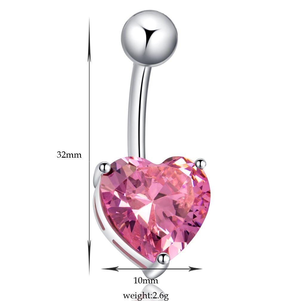Mix renk kalp Kristal Paslanmaz Çelik Dudak Vücut Piercing Yüzükler I Şekil Kulak Damızlık Piercing Tragus Vücut Takı Unisex