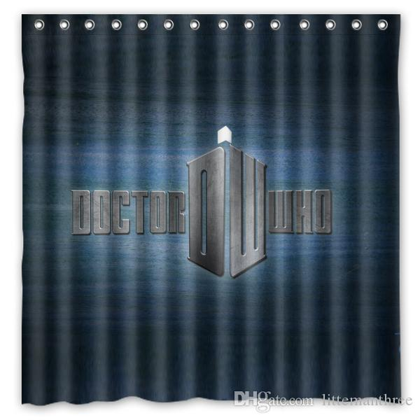 2019 Doctor Who DW Design Shower Curtain Size 180 X Cm Custom Waterproof Polyester Fabric Bath Curtains From Littemanthree 2513