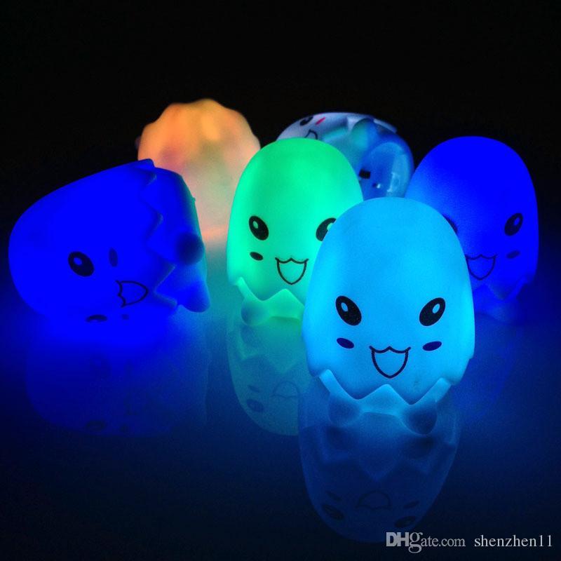 Novità Animale Rana Cane Tartaruga Sette Colori Modificabili Led Lampeggiante Night Lights Lampada Giocattoli Capodanno / Natale / regalo di compleanno OTH589