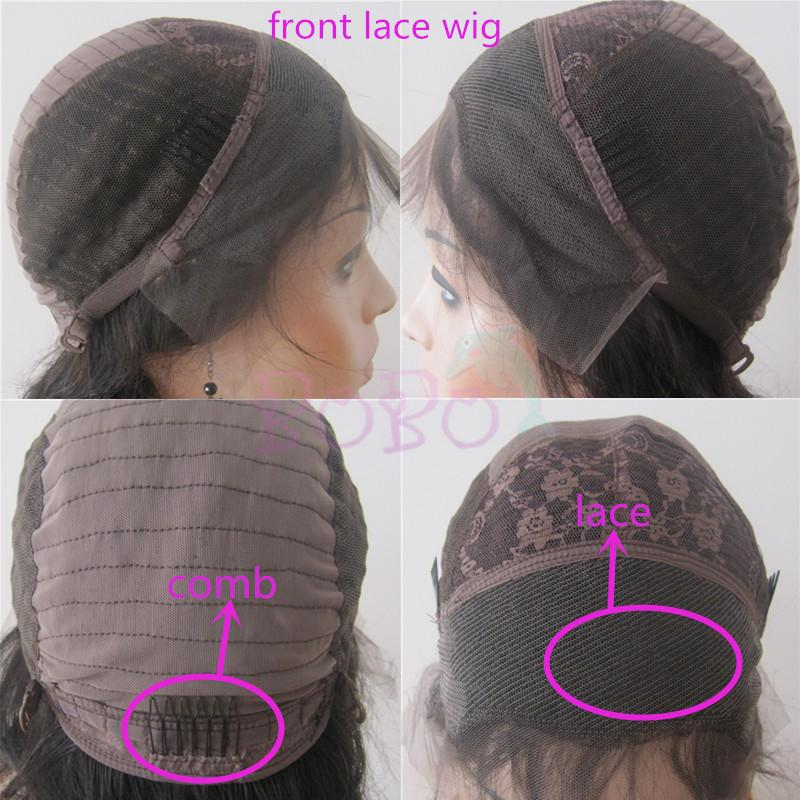 Natural Density Black Women Wigs Mink Brazilian Kinky Curly Hair With DHL Brown Front Lace Full Lace Wigs Customized