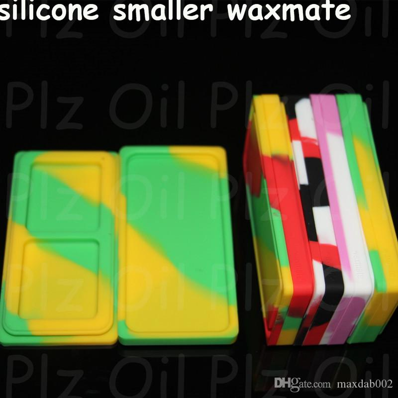 Небольшие контейнеры Waxmate силиконовая резина кремний для хранения квадратной формы восковые банки Dab инструмент Dabber держатель масла для испарителя ручка сухой травы