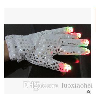 Flashing Finger Lighting Mitten LED Colorful Flash Light Glow Gloves Light Show and Multi-Color LED Light Up Shoelaces Battery Pow
