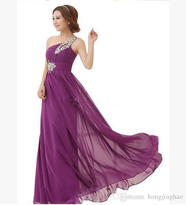 Real Pictures 2016 Organza A Line Bridesmaid Dresses Applique Floor Length V Neck backless Wedding Evening One Shoulder Bridal Prom Gowns