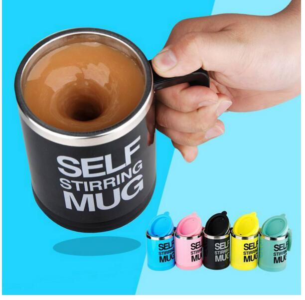400ML Stainless Lazy Self Stiffing Mug Auto Mixing Tea Coffee Cup Office Home Use Christmas Gifts