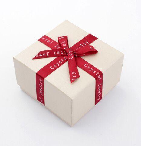 7.2 * 7.2 * 4.6cm Bijoux / Bijoux Ensembles Collier Boucles D'oreilles Anneaux Bracelets Cadeaux Emballage Emballage Emballage Affichage Affichage Boîte Boîte avec Bowknot