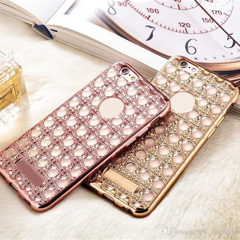 new arrival d2ee9 a8877 Luxury Style Cell Phone Cases Rose Gold Ladies Phone Covers for Huawei P8  P9 Honour 33