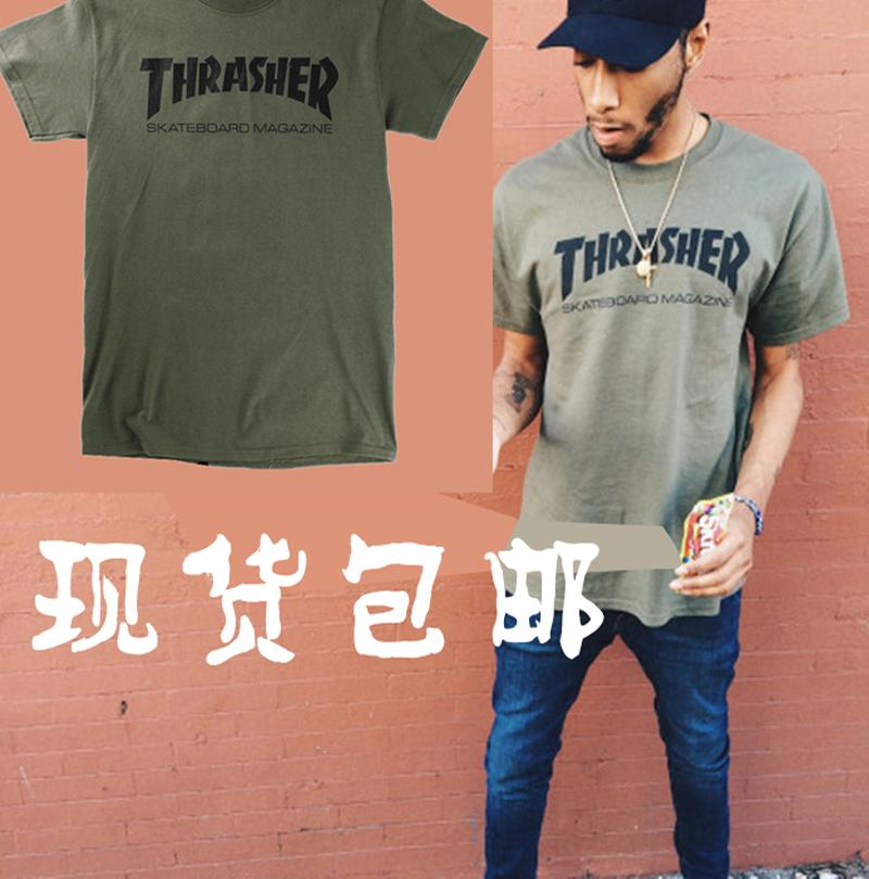 b88a35ded0 Compre Homens Do T Shirt Da Camisa De Thrasher T O T Shirt Do Trasher Do  Streetwear Das Mulheres Militares Do T De Milingstore