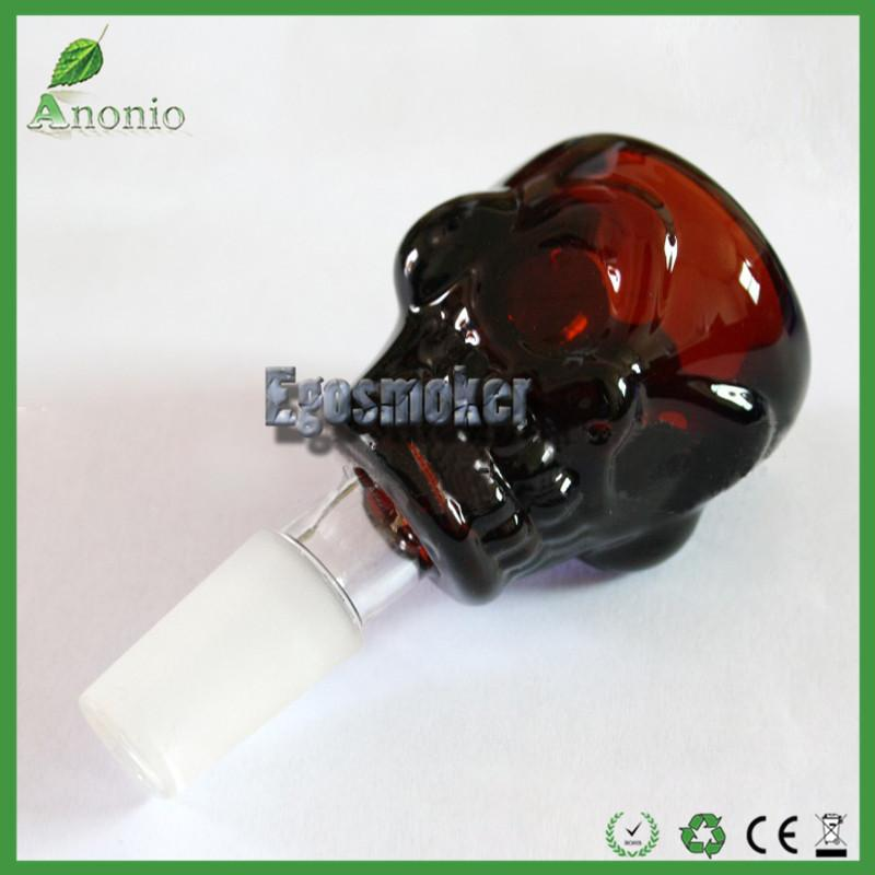 18 mm Glass Bowl 14mm Bang Bowls Skull Design Herb Holder Skull Bowl Glass Bongs Glass Water Pipe and Ash Catcher Oil Rig