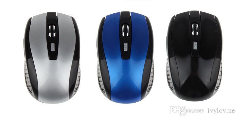 2.4GHz USB USB Ratón inalámbrico USB Ratón Mouse Smart Sleep Guardar en energía para computadora Tablet PC Laptop Desktop Free DHL Envío