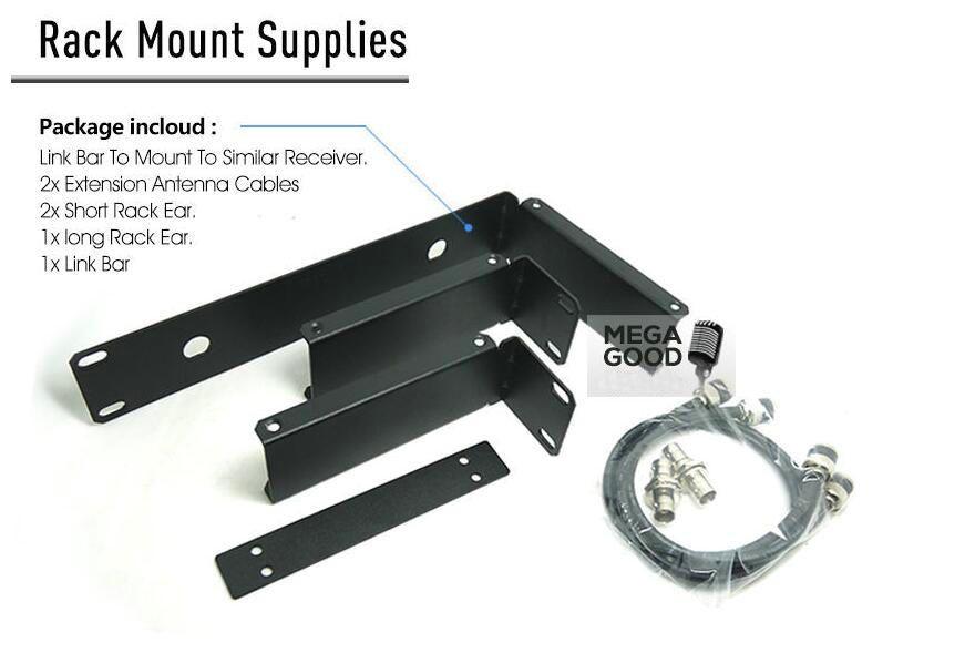 Sale ! Rack Mounting Bracket Antenna Extension Cable Rack Kits For SLX Wireless Receiver SLX14 SLX24 Wireless Microphone