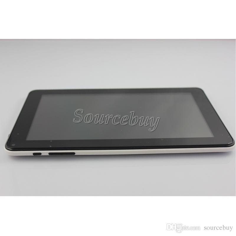 Envío gratis 50 unids Allwinner A33 Quad Core 1.5 GHz 9 pulgadas cámaras dobles Android4.4 Tablet PC 512MB RAM 8GB ROM Bluetooth Wifi Flash