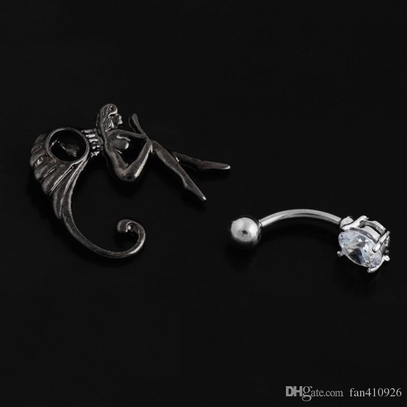 angel Reverse navel rings belly button rings body piercing jewelry