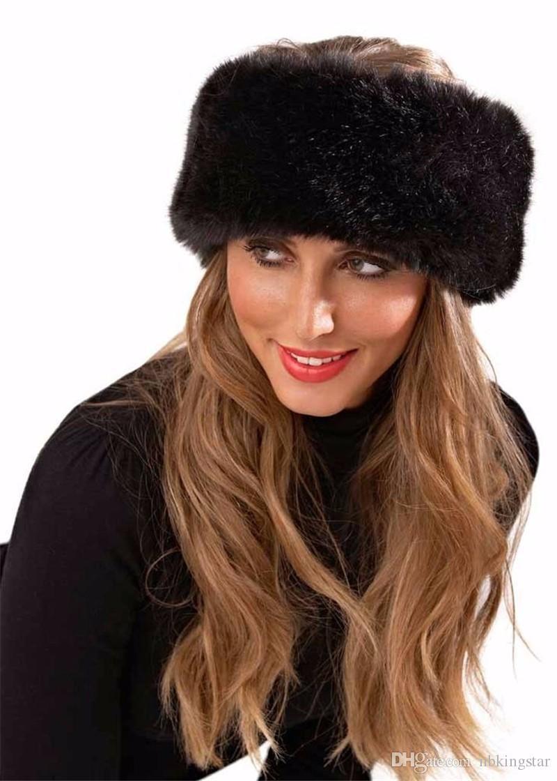 2019 Winter Girls Plush Hairbands Faux Fur Headbands Ear Warmers Earmuffs  Hat Headband For Women From Nbkingstar 4b00770b21a