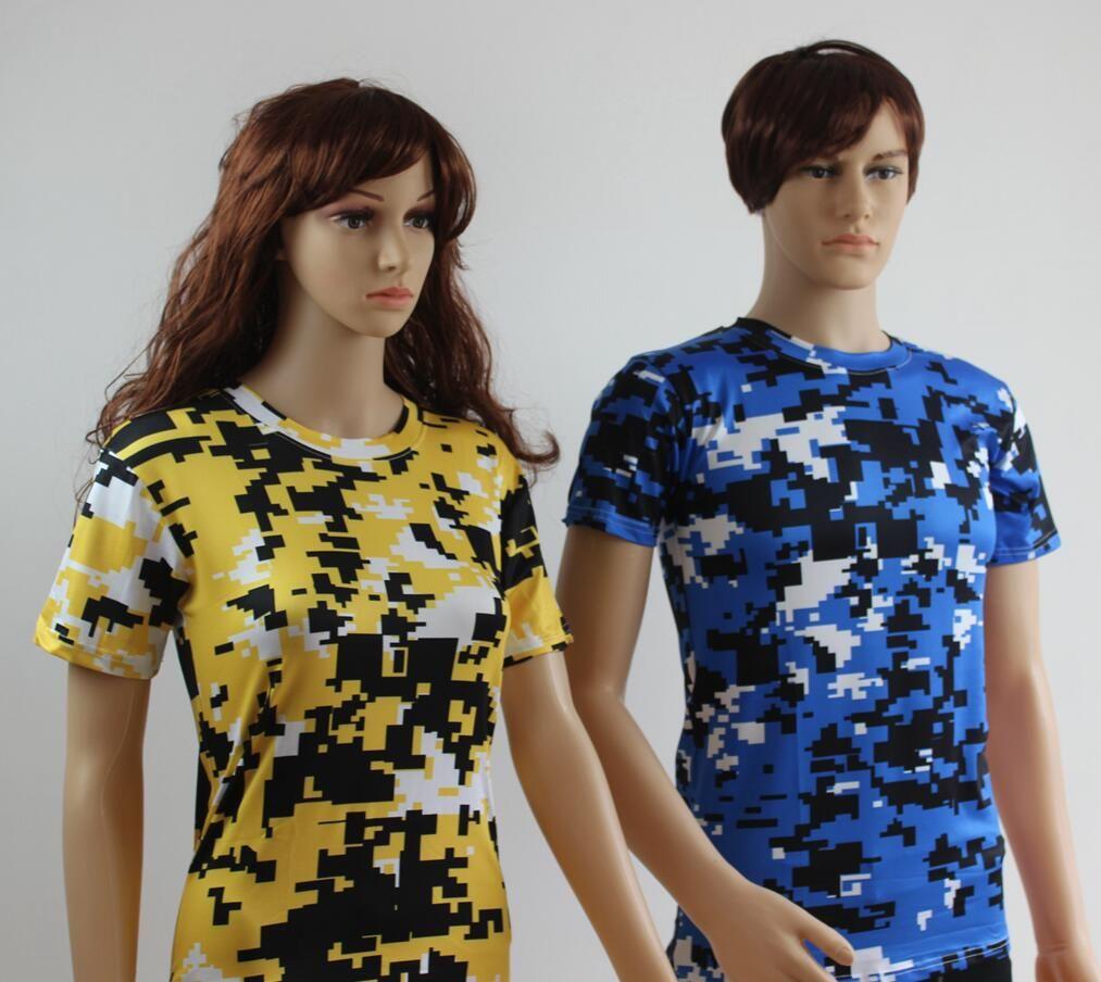 Design tshirt online free shipping - Dhl Free Shipping 2016 Digital Camo Shirts Compression T Shirts Digital Camouflage Camo T Shirt Rothco Military Hunting Camo Style