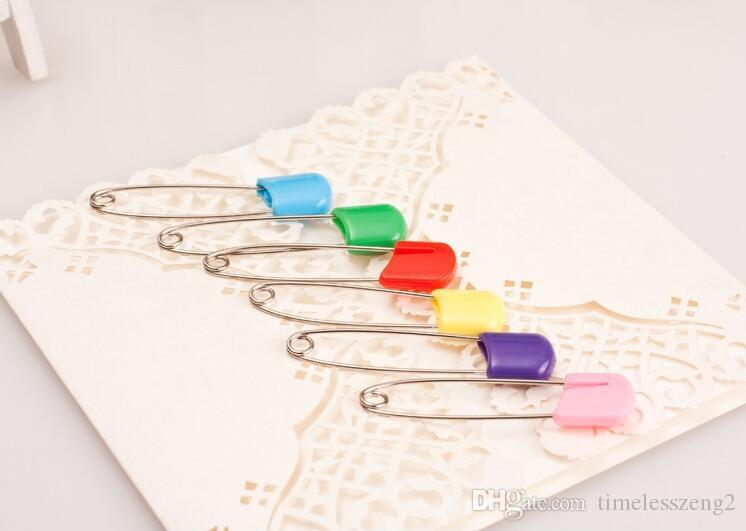 Épingle de sûreté de couleur Épingles à bébé multi-usages L'épingle de sûreté pour bébéBaby Dress Cloth Nappy Couches de Douche Craft Douche Kit de Jeu Couleur