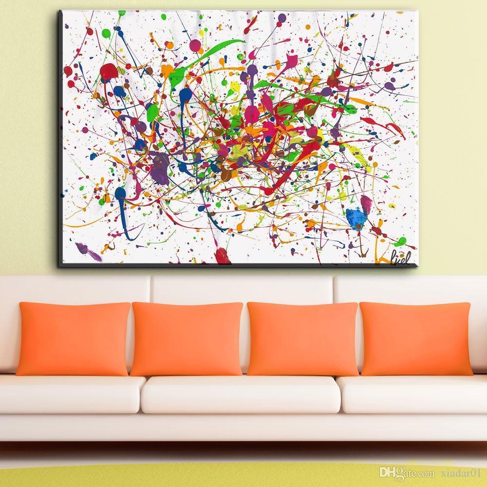 ZZ1862 Jackson Pollock Classic Abstract Art Canvas Print Pittura Poster, Immagini a parete soggiorno, Home Decor