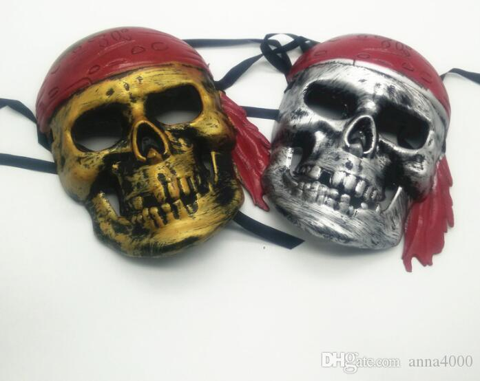 Halloween faces, horror skulls, masks, revelry, masquerade, atmosphere, performances, props, pirate masks wholesale