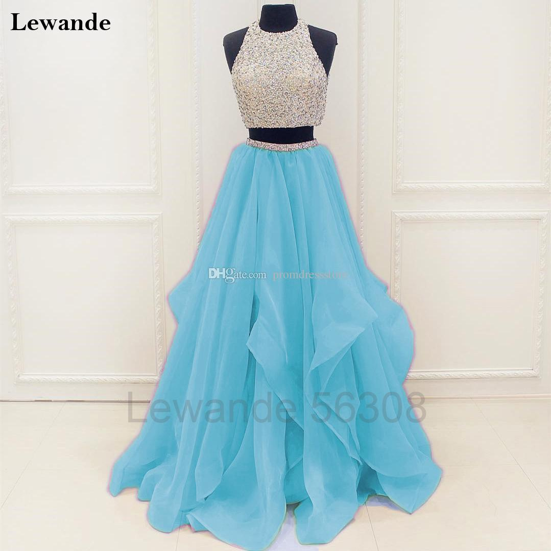 Sequin Beaded Two Piece Junior Prom Homecoming Dress Candy Color A ...