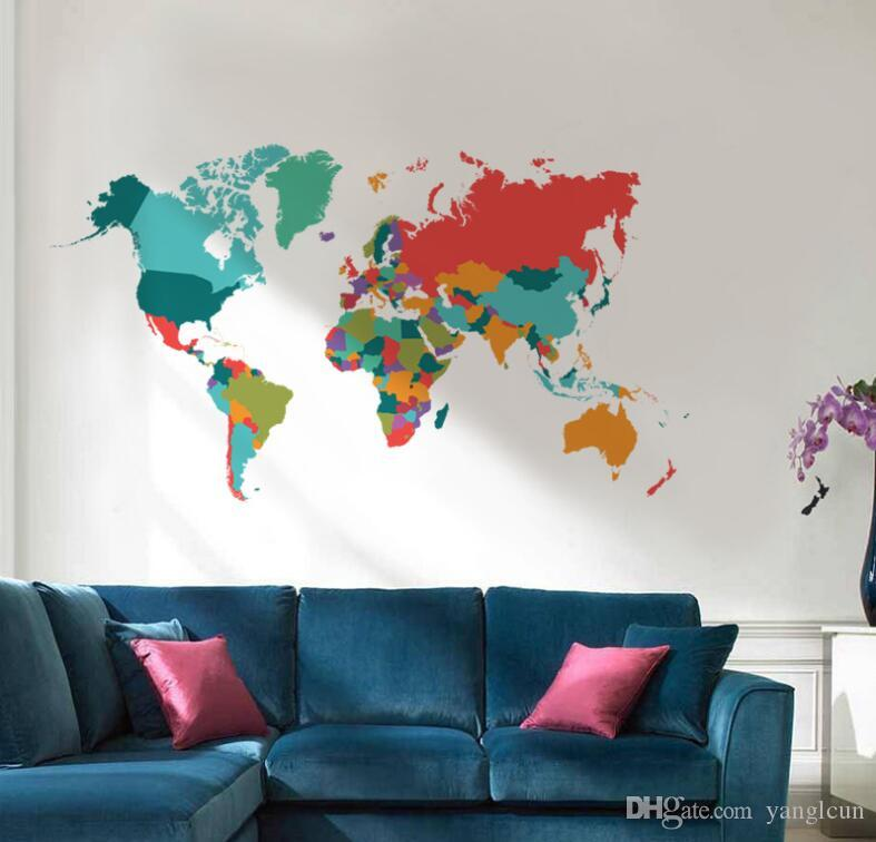 Colorful world map stickers wall sticker home room decoration office colorful world map stickers wall sticker home room decoration office wall decoration stickers removable wall stickers star wall stickers stars wall stickers gumiabroncs