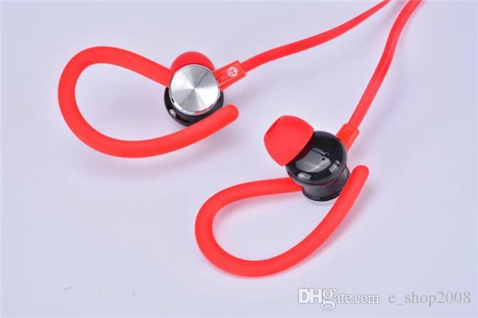 JY-A1 oreille crochet écouteurs universels avec micro casque musique fort basse dans l'oreille pour iphone samsung téléphone portable mp3 câble plat