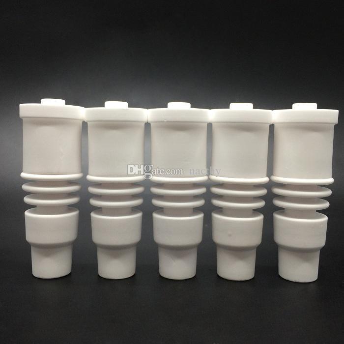 Les ongles en céramique masculins de 14mm et de 18mm 2 dans 1 les ongles en céramique de domeless adaptent la bobine électronique de clou de 20mm pour le verre en verre Bongs