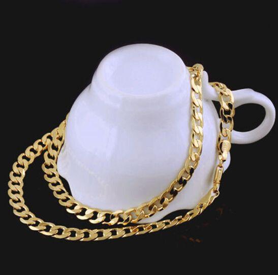 JOYERÍA DE ORO AMARILLO Fino Oro sólido de 14 k Collar para hombre Regalo de San Valentín de la cadena de cumpleaños valioso