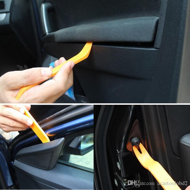 السيارات سيارة راديو لوحة الباب كليب لوحة تريم اندفاعة الصوت إزالة المثبت pry إصلاح أداة 4 قطعة / المجموعة المحمولة العملية الحرة الشحن