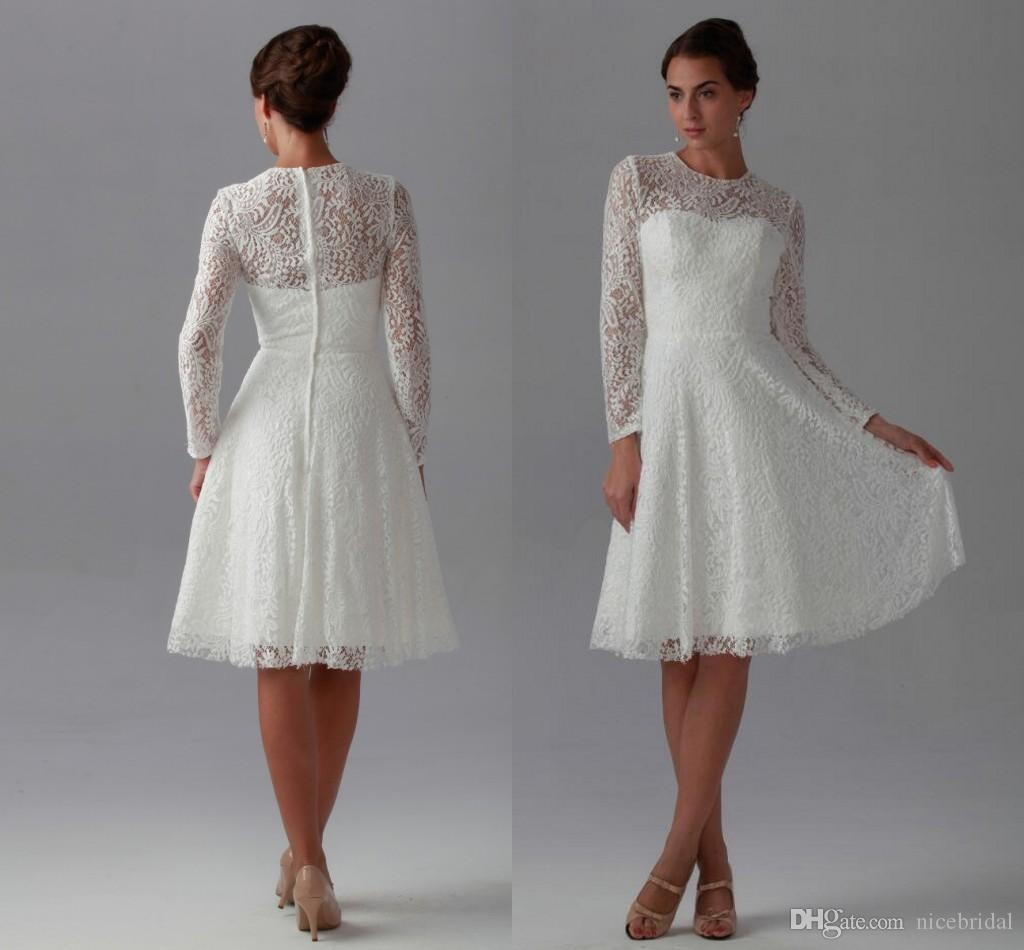 Discount Little White Summer Beach Wedding Dresses Lace Spring ...