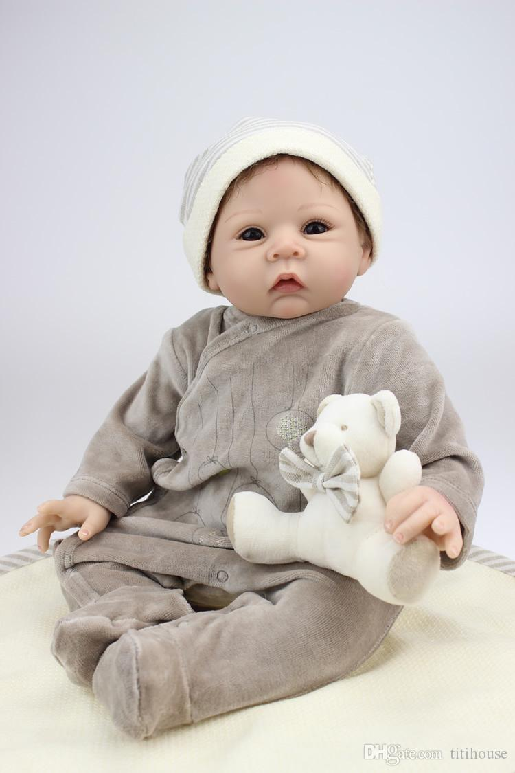 Realistic 22 Inch Npk Collection Doll Silicone Reborn Baby