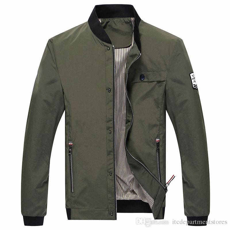 promo code 31d13 b7c58 Herren Bomberjacke Slim Fit Tactical Jacke dünne Art Armee grüne Jacke  Pilot Outdoors Male Jacke und Mäntel XXXL