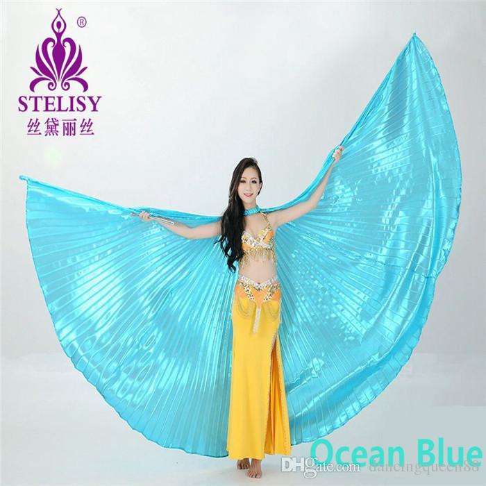 Tanzen Egyptian Egypt Belly Dance Dancing Costume Isis Wings Dance Wear Win-U&
