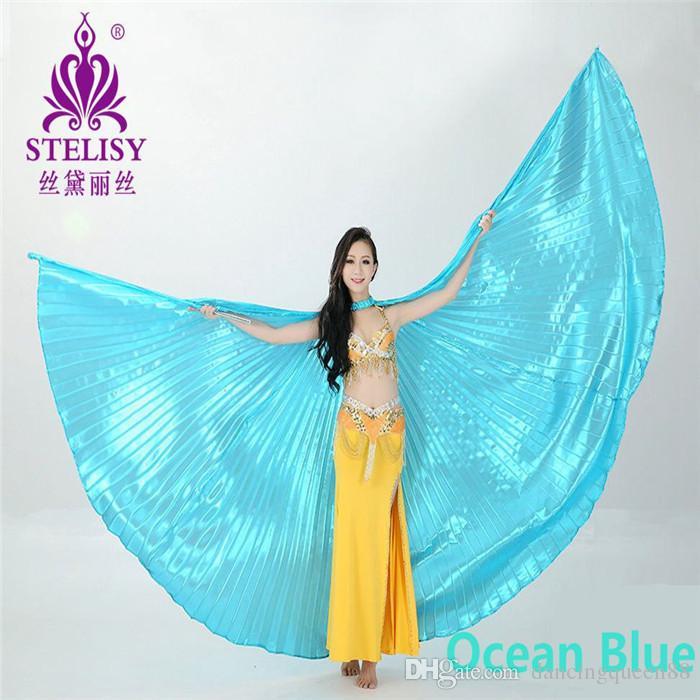 2018 es para las alas de ángulo elegidas Egipcio Egipcio Traje para danza del vientre Isis Wings Accesorios de ropa para bailar sin palo
