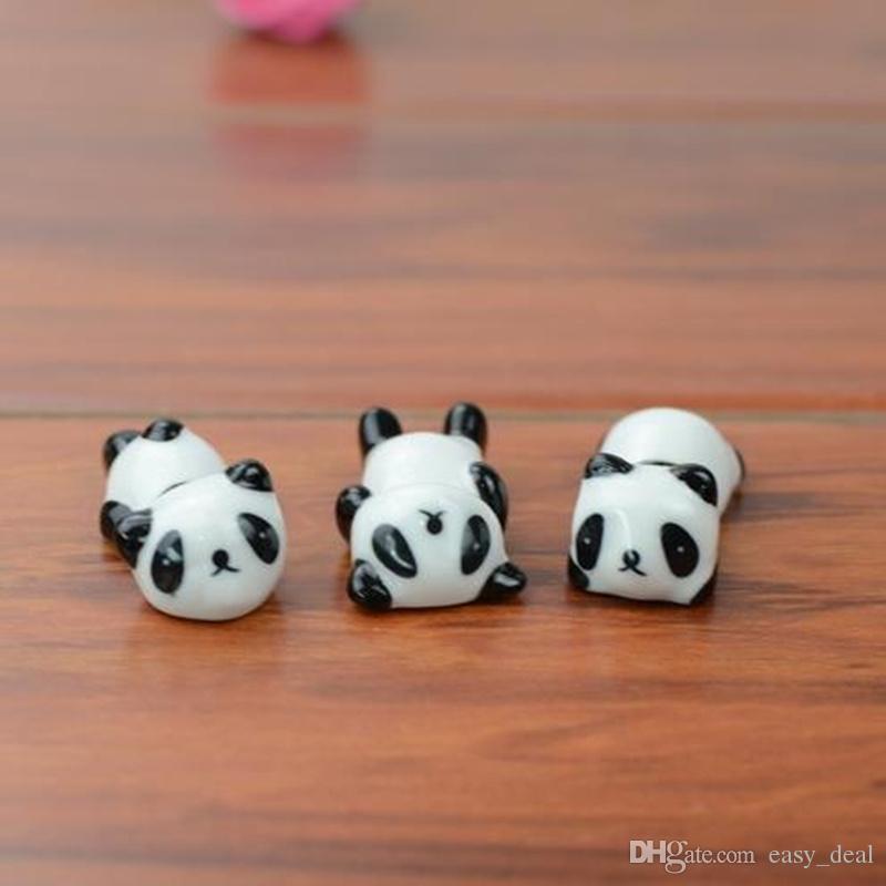 الباندا لطيف زخارف السيراميك عيدان حامل رف عيدان حصيرة رعاية عيدان لوازم المطبخ أدوات المائدة F20172565
