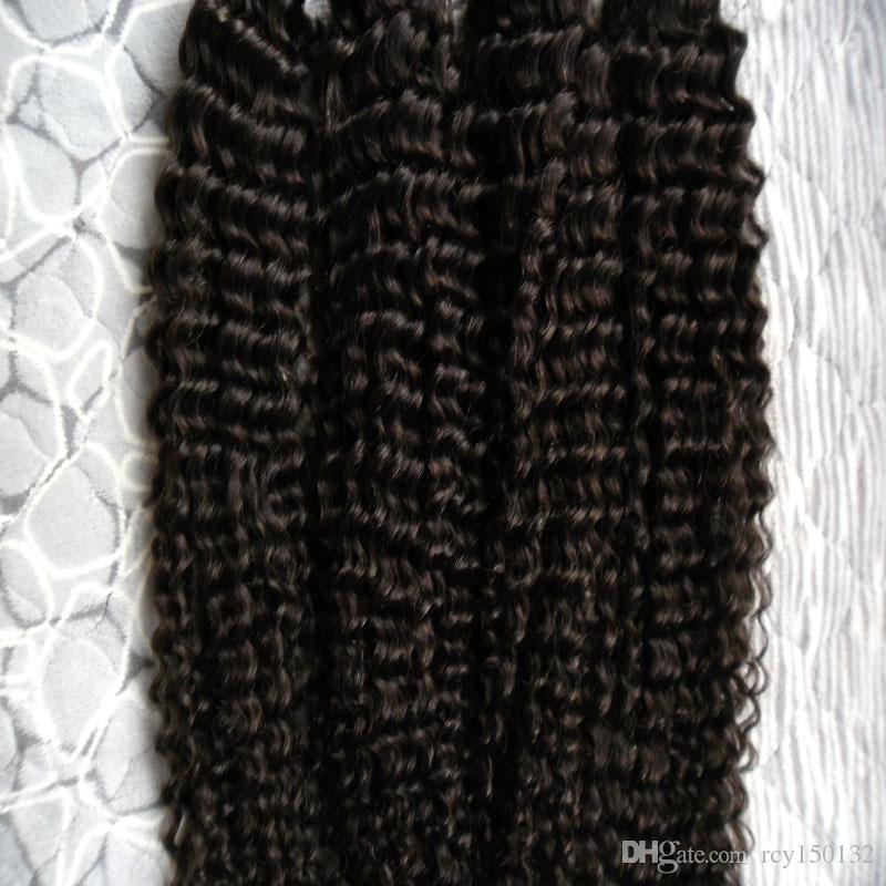 몽골어 곱슬 곱슬 머리 200g 인간 퓨전 헤어 못 U 팁 100 % 레미 인간의 머리카락 확장 200s 아프리카 곱슬 곱슬 한 곱슬 각질 스틱 팁