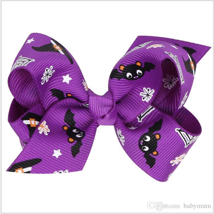 Хэллоуин девушка тыквы Шпильки Заколки детские пауков аксессуары для волос принцессы зажимы волос смычка смазливая головной убор цветок