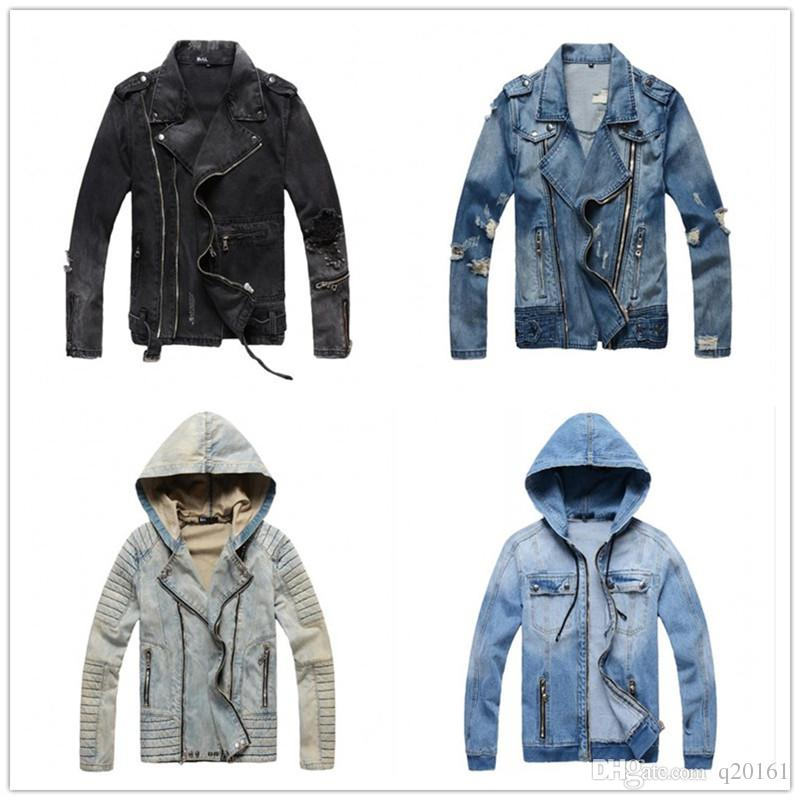 Compre Nuevo 2018 Marca De Moda Para Hombre Chaqueta De Mezclilla De Alta  Calidad 100% Algodón Abrigos Ropa Chaqueta De Mezclilla Moda Para Hombre  Jeans ... a34926f467a