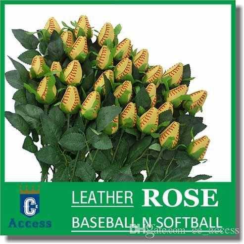 2017 softball baseball leather seam rose