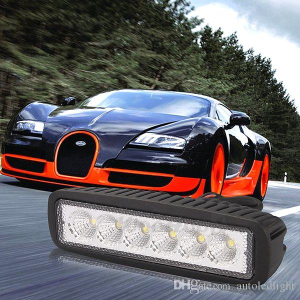 led lights bars 6INCH 18W WORK LIGHT BAR FLOOD DRIVING OFFROAD FOG 4WD BOAT UTE.