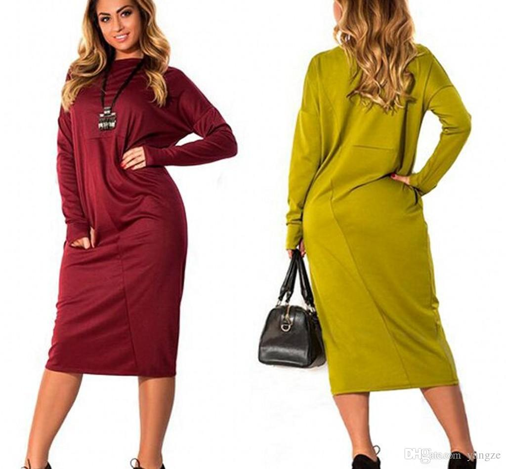Long winter dresses plus size