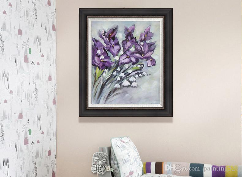Puro dipinto a mano soggiorno camera da letto studio moderno semplice decorativo stile tela pittura a olio spessa pittura a olio coltello JL400