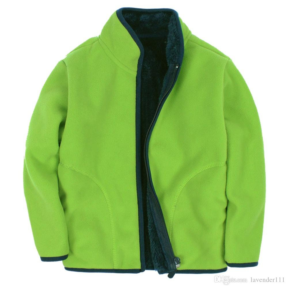 New 2016 Children Polar Fleece Cardigan Sweatshirt Children ...