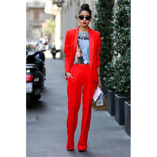 D'affaires Femmes Vestepantalon Costumes Rouge Blazer Acheter Dh29eiw Aj54RL