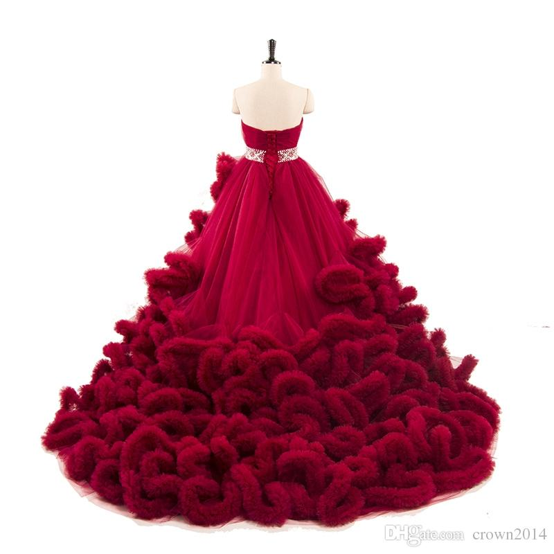 2018 Luxury Colorful Quinceanera Dresses Ball Gowns Long Train ...