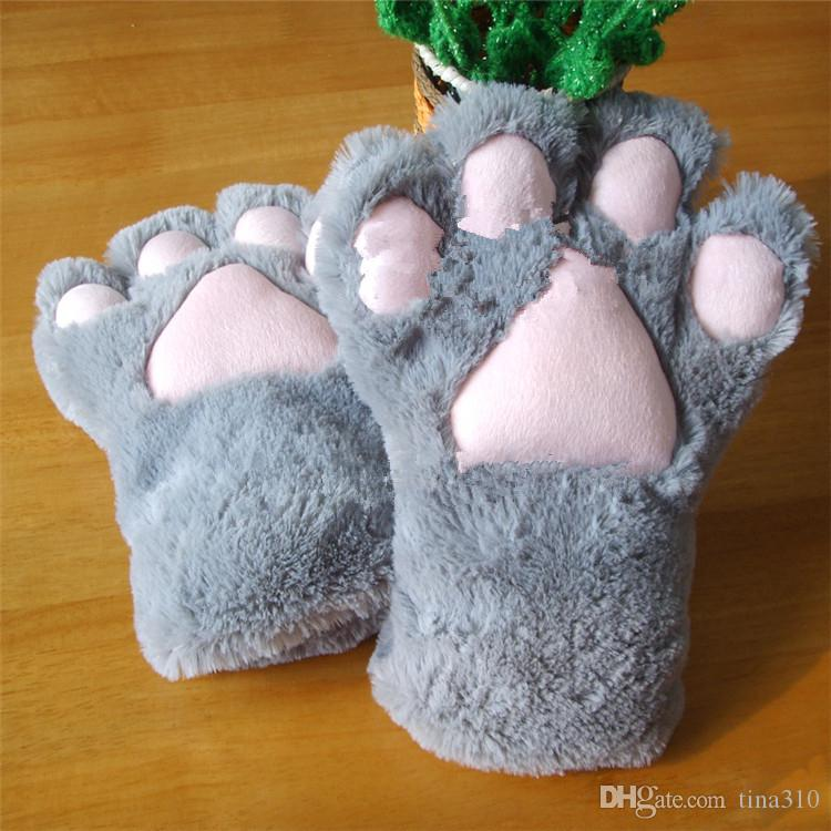 Großhandel - Sexy Die Magd Katze Mutter Katze Klaue Handschuhe Cosplay Zubehör Anime Kostüm Plüsch Handschuhe Paw Party Handschuhe Supplies 2167